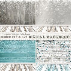 Christmas Digital Backdrop Snow Digital by DigitalDesignPaper