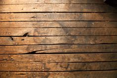aged wooden attic | background image of the old, original flooring in the attic of an old ...