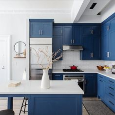 "6,783 Likes, 56 Comments - domino (@dominomag) on Instagram: ""This kitchen renovation story is about to make your day. (HELLO, custom cabinets.) Tap the link in…"""