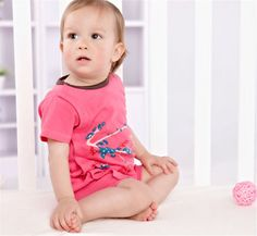 Newborn Infant Baby Girls Short Sleeve Bodysuits Romper Jumpsuit Outfit 3-6M #ibaby #Everyday