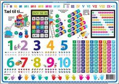 Nå skal det telles og regnes ved middagen.   Mange timers lærer med denne fantastiske bordbriketten, hvor det lekes med tall og mengder.   Det er lett gjenkjennelig ting fra barnets hverdag, som de blir presentert for. Kulerammer, regnekuber, linjal, romertall og mye mer.   Fra 3 år.