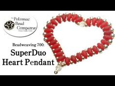 How to make a triangle pendant with superduo beads | diy beadwork - YouTube
