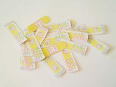 Bandaid stickers.
