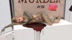 """""""O GRITO DO BICHO"""": Protesto pede o fim do uso de pele de animais em f..."""