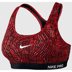 Nike - Women's Pro Classic Padded Tidal Multi Sports Bra (University... ($45) ❤ liked on Polyvore featuring activewear, sports bras, nike sportswear, padded sports bra, nike, nike activewear and nike sports bra