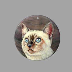 HAND PAINTED CAT SHELL FASHION NECKLACE PENDANT ZP30 00920 #ZL #PENDANT
