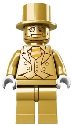 The elusive Mr Gold Lego figure.  Lego, the toymaker has released just 5000 of the individually-numbered gold-coloured Mr Gold figurines worldwide. They are secreted away in the Lego Collectable MiniFigures Series 10 packets.  To date, 199 Mr Golds have been found worldwide.