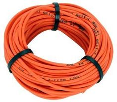 JEGS Performance Products 10804 Orange Premium Automotive Wire by JEGS. $11.99. Abrasion resistant irradiated cross-linked polyethylene jacket is designed for use in engine compartments. More heat resistant, tougher and more fluid resistant than general purpose PVC insulated wire. Temperature rated at 257ºF (125ºC) vs. 215ºF (105ºC) for general purpose wire. That's a 20% gain. Available in 50' rolls of 14GA or 25' rolls of 10GA wire.