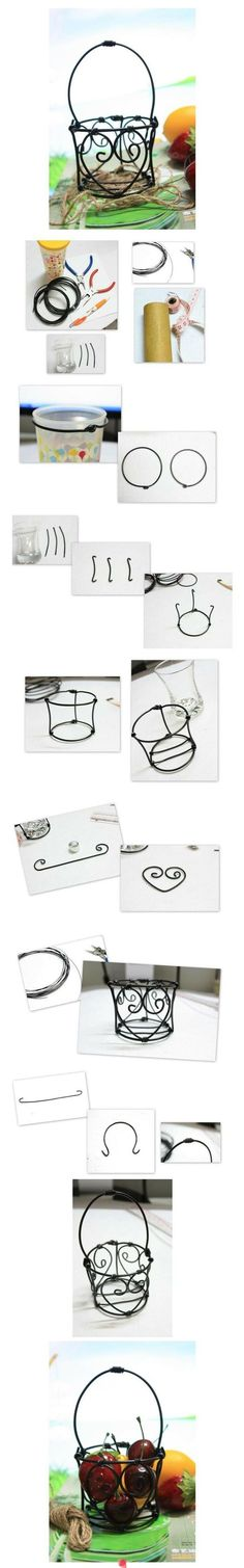 Ideas for basket diy wire Diy Projects To Try, Crafts To Make, Craft Projects, Craft Ideas, Art Fil, Wire Tutorials, Wire Crafts, Decor Crafts, Wire Baskets