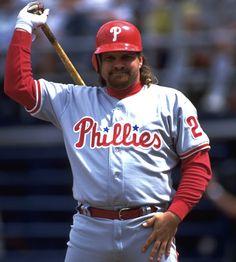John Kruk former Phillies player, for what its worth.My first Baseball hero. Best Baseball Player, Better Baseball, Baseball Games, Baseball Display, Baseball Stuff, Phillies Baseball, Baseball Uniforms, Philadelphia Sports, Sports Celebrities