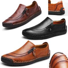 9504b2526d24 Fashion Men Leather Casual Zipper Shoes Antiskid Moccasins Loafers  Breathable  fashion  clothing  shoes  accessories  mensshoes  casualshoes ( ebay link)