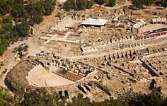 Beit Shean, Israel. Largest Roman ruins in Israel. Another Pinner wrote: Our tour guide told us this entire city had been buried at one time and was discovered when a farmer stumbled across some relics in his field.  After years of excavation the city has been unearthed!