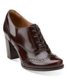 Clarks Burgundy Ciera Pier Leather Oxford