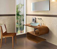 interesting wood accents Beige Bathroom, Wood Accents, Beige Color, Beige Colour