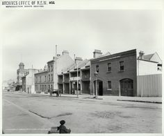 Title: Cumberland Street looking south from Little Essex Street, The Rocks (NSW) [Rocks Resumption photographic survey]  Dated: month and year only 01/08/1901  Digital ID: 4481_a026_000226 Rights: No known copyright restrictions  www.records.nsw.gov.au/about-us/rights-and-permissions  We'd love to hear from you if you use our photos/documents.  Many other photos in our collection are available to view and browse on our website using Photo Investigator.