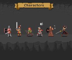 Characters and Animations for an 1990's style RPG on Behance