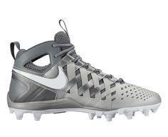#LacrosseUnlimited #Nike Huarache 5 Lacrosse Cleats Silver/Gray