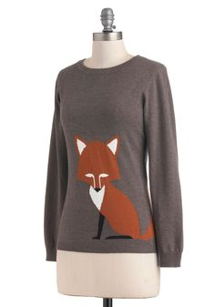Just the Fox, Ma'am Sweater | Mod Retro Vintage Sweaters |