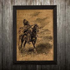 Tribal print. Native poster. Antique decor. Burlap print.  PLEASE NOTE: this is not actual burlap, this is an art print, the image is printed on art