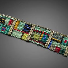 Bead Embroidery Jewelry, Jewelry Making Beads, Beaded Embroidery, Loom Bracelet Patterns, Seed Bead Patterns, Woven Bracelets, Seed Bead Bracelets, Seed Beads, Julie Powell