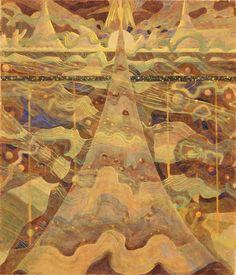 Mikalojus Ciurlionis Allegro Sonata of the Stars hand embellished reproduction on canvas by artist Chaim Soutine, Avant Garde Artists, Art Database, Visionary Art, Great Artists, Canvas Art Prints, Modern Art, Museum, Fine Art