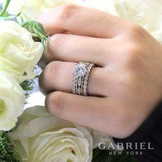 One ring with all the right layers. #GabrielNY #GabrielandCo #EngagementRing #Bridal #BrideToBe #bridetoBride #Diamonds #Love #Ring #TrueLove  #DreamWedding #WeddingInspiration #Glamour #heart #love #anniversary #jewelry #whitegold #diamond #ringgoals