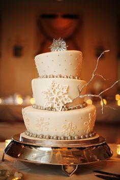 wedding cake mariage hiver flocons Carnet d'inspiration Mademoiselle Cereza