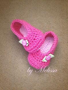 Crochet Booties with button embellishment