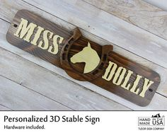 For sale at www.TudorSignCompany.com We've added a new rustic stable sign to our ScrollSaw Collection. We can customize it with your favorite animal silhouette.  This #personalizedsign makes a thoughtful #birthdaygift for your favorite #horselover.  #horsestable #ranch #4H #ffa #horseshoe #personalizedgift #barn #stable #equestrian #horsedecor #rustic #rusticsign #woodsign #signs #rusticdecor #madeinusa #westernredcedar #madeinwashington #TudorSignCompany #Cerdena