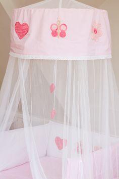 Cot Canopy - Pretty In Pink - Gemsquash Designs