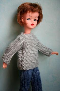 Il faut habiller la poupée Solariane: Pull tube - Explications