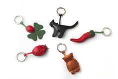 Animal Key Holder in leather - Fabriano Boutique