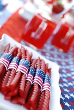 wrap up red vines for party treats