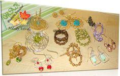 ZARCILLOS Y AROS  Con Perlas, Cristales, Turquesa, Coral  Elaborado por la Artesana Diseñadora Milady Arévalo en Cobre y Alambre Artesanal