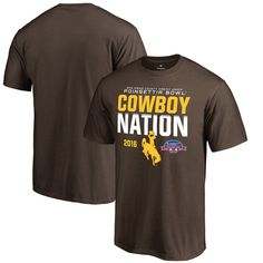 Wyoming Cowboys Fanatics Branded 2016 Poinsettia Bowl Bound Nation T-Shirt - Brown