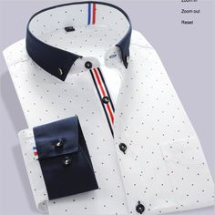 New 2016 Men's Shirts Long-Sleeve Brand Dress Shirt Hit Color stitching Embroidery Casual Dress Shirt For Men Best Casual Shirts, Cool Shirts For Men, Long Sleeve Shirt Dress, Long Sleeve Shirts, Dress Shirts, Dress Long, Smart Attire, Color Combinations For Clothes, Mens Kurta Designs