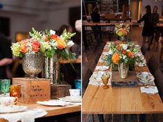 An Indie Wedding Social: Part 1 wedding flowers orange white and green Orange Wedding Flowers, Wedding Show, Indie Fashion, Before Christmas, Tabletop, Berries, Table Settings, Table Decorations, Interior