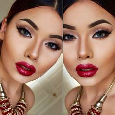 Great contouring!  ♡ this look