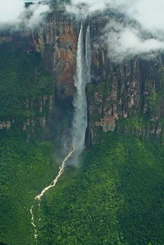 Angel Falls, Venezuela - Ian Lambert.  The height of the falls is so great that before getting anywhere near the ground, the water is buffeted by the strong winds and turned into mist.