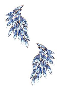 Blue Wing Crystal Earrings on HauteLook