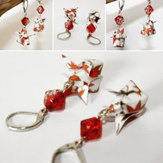 Etsy - Shop for handmade, vintage, custom, and unique gifts for everyone Origami Club, Origami Shop, Origami Tutorial, Drop Earrings, Etsy, Jewelry, Red Maple Tree, Ears, Unique Jewelry