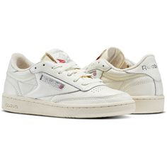 Club C 85 Archive, Sneakers Basses Homme, Blanc (White/Glen Green/Excellent Red), 47 EUReebok