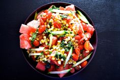 This Summer Watermelon Salad is a refreshing a classic summer side dish.