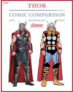 "491 Likes, 8 Comments - • Accurate.MCU • mcu fanpage (@accurate.mcu) on Instagram: ""• THE MIGHTY THOR - COMIC COMPARISON • So this comparison is Thor in his age of Ultron costume…"""