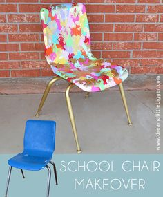 School Chair Makeover - Welcome To Art Class