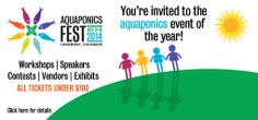 Aquaponics Systems, Supplies and Education    http://theaquaponicsource.com/aquaponics-fest-2014/