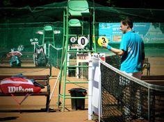 Tournament Director, Irek Maciocha in action