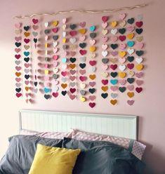 DIY Paper Heart Wall Decor|DIY Teen Room Decor Projects