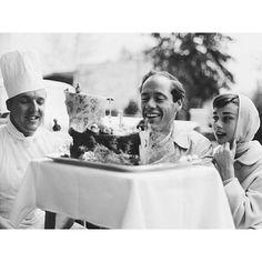 Repost @buergenstockresort | Audrey Hepburn and Mel Ferrer photographed Burgenstock, 1954