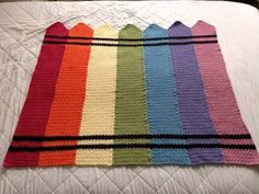 Crayon Blanket - CROCHET... great idea for baby gifts :)